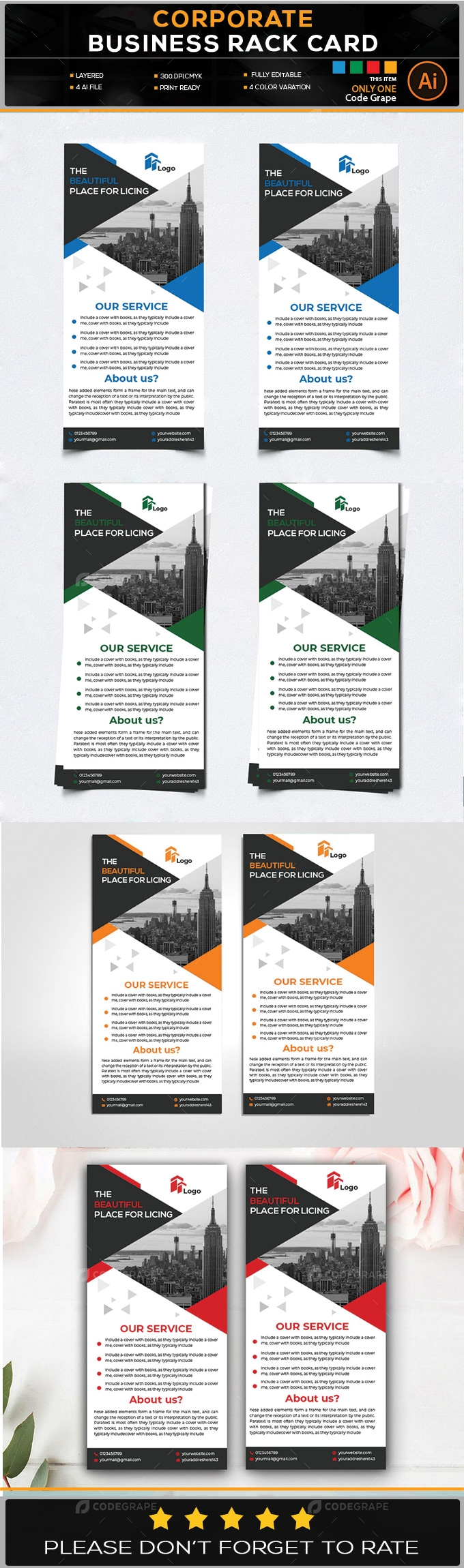 Corporate Business Rack Card