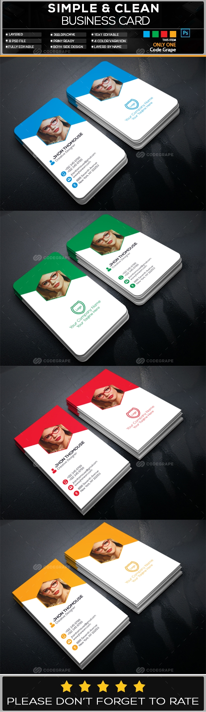 Photography Business Card Vol - 2