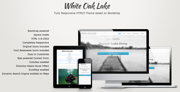 White Oak Lake - Responsive One Page Site Template
