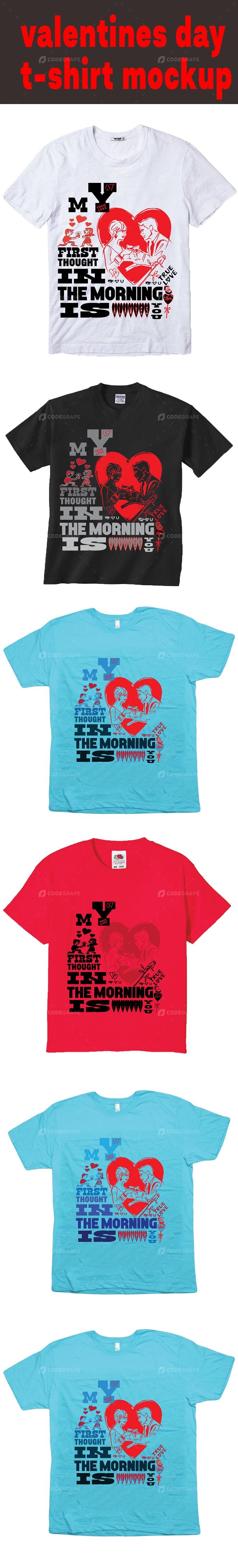 Valentines Day T-shirt Mockup