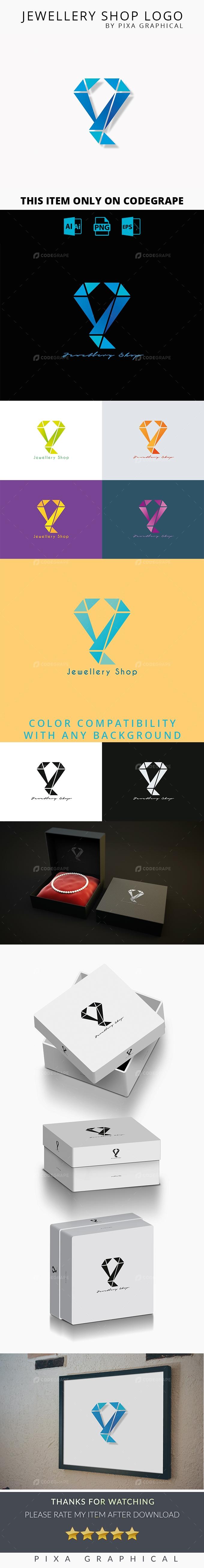 Jewellery Shop Logo Template