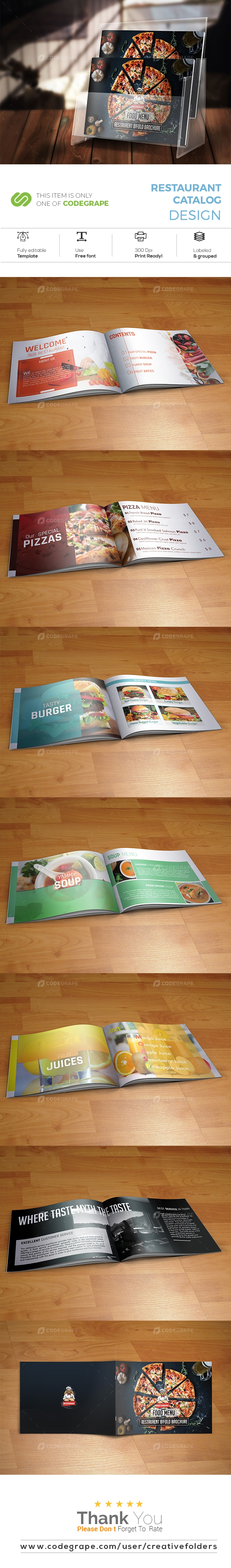 Restaurant Catalog Design
