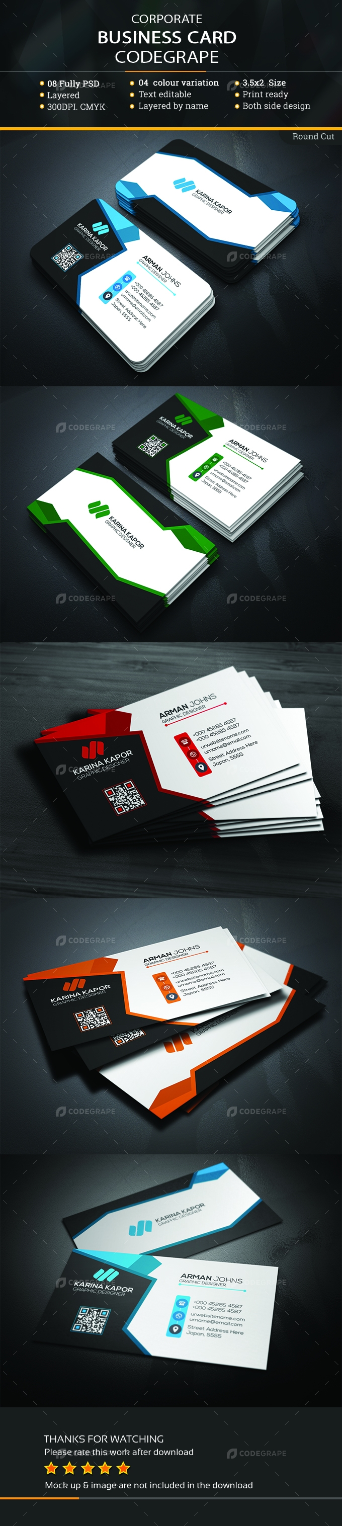 Corporate business card print codegrape corporate business card reheart Image collections
