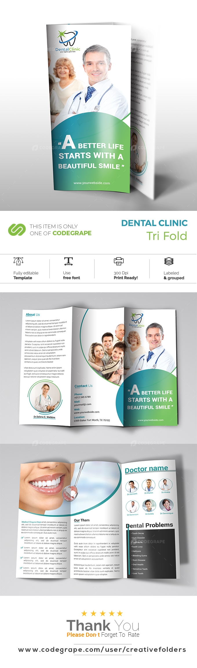Dental Clinic Trifold