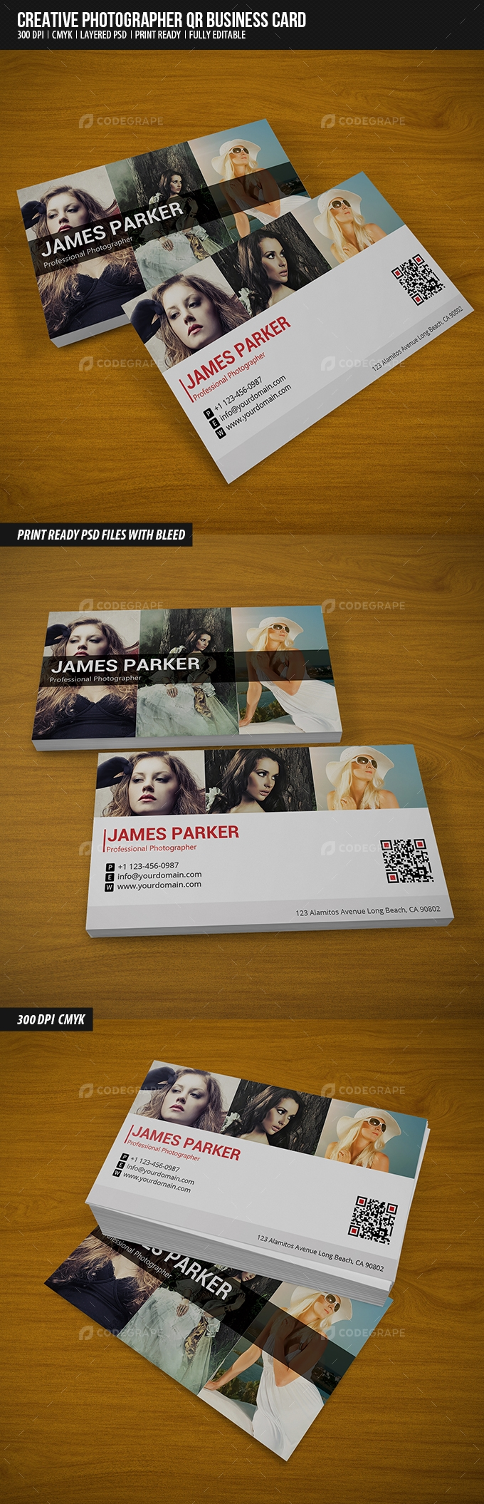Creative Photographer QR Business Card