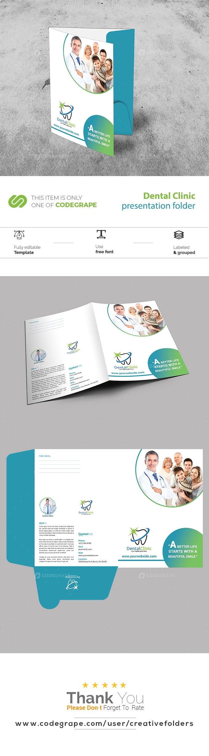 Dental Clinic Presentation Folder