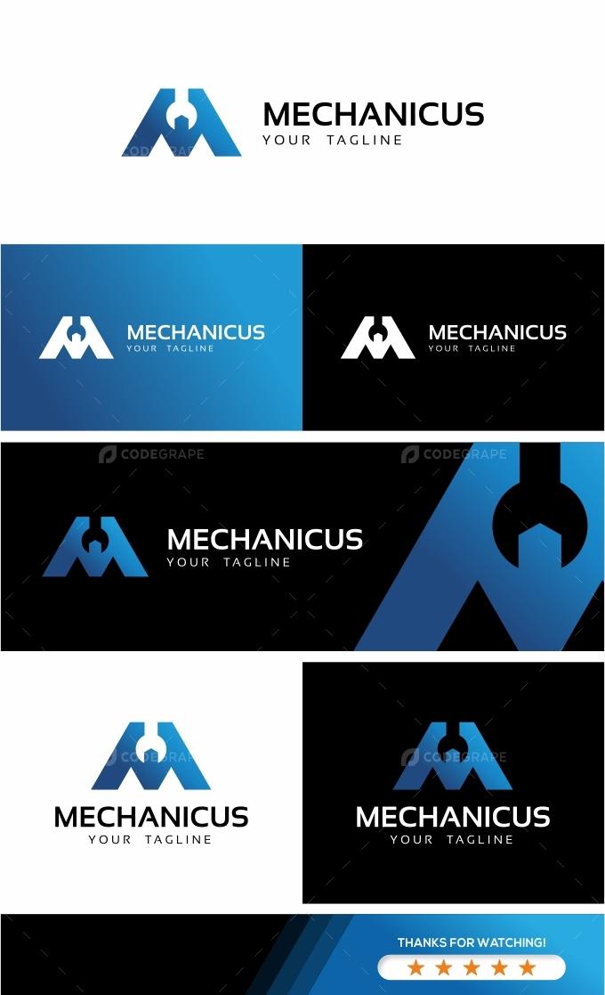 Mechanic M Letter Logo