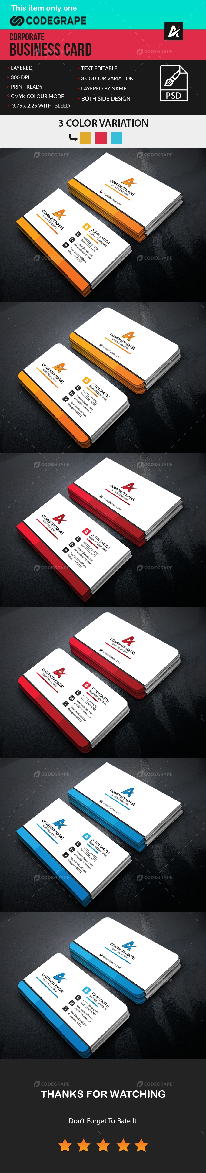 Corporate Business Card [VOL-3]