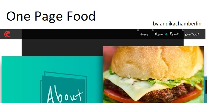 One Page Food HTML Template