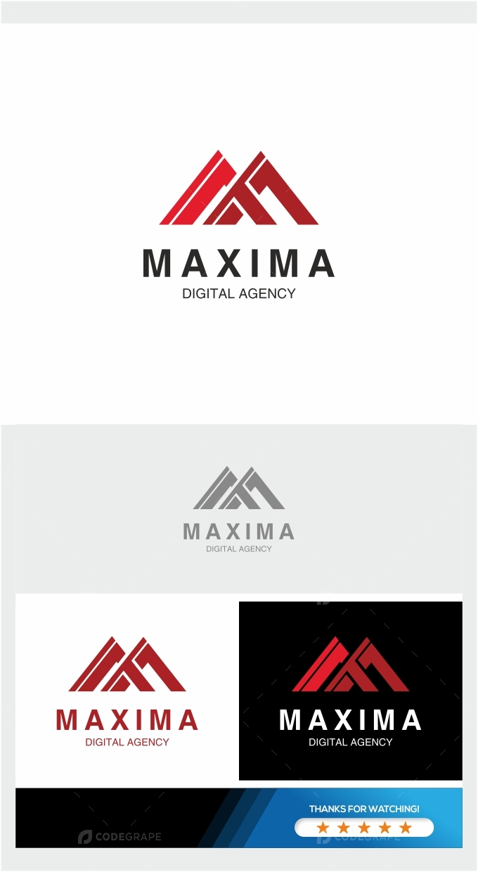Maxima Mountain Logo Template