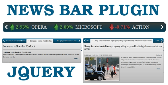 News Bar jQuery Plugin
