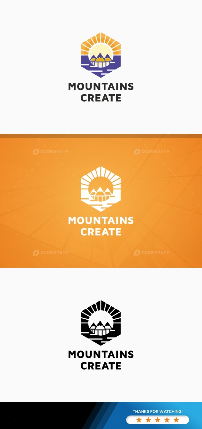 Mountains Create Logo Template