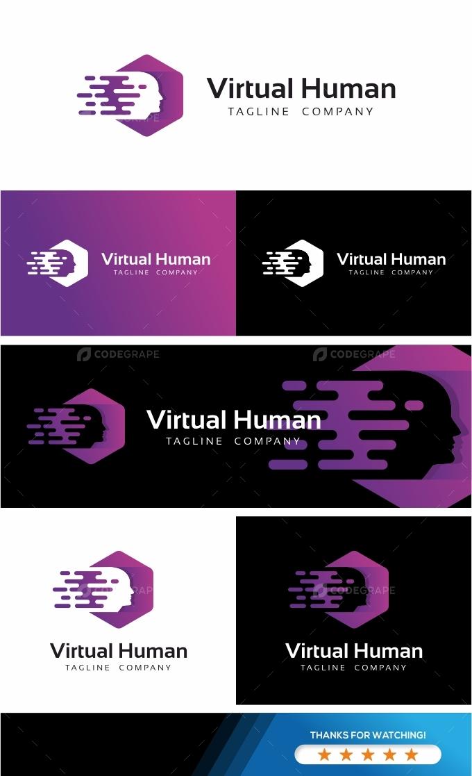 Virtual Human Logo Template