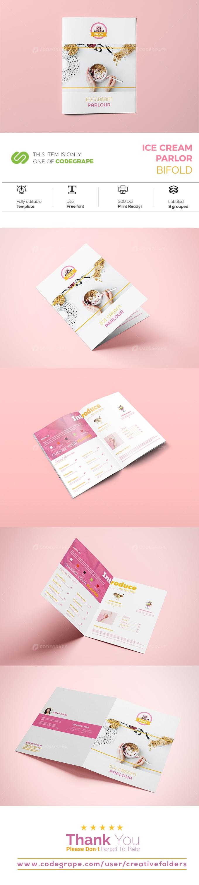 Ice Cream Parlor Bifold Brochure