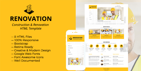 Renovation - Construction and Renovation HTML Template