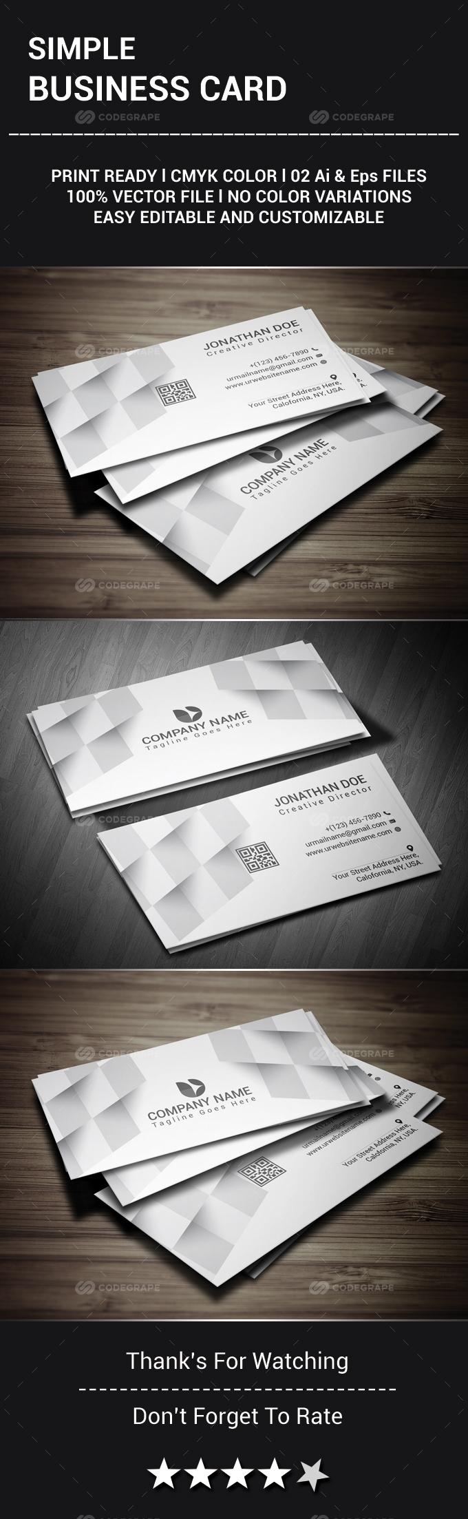Simple Business Card - Print | CodeGrape