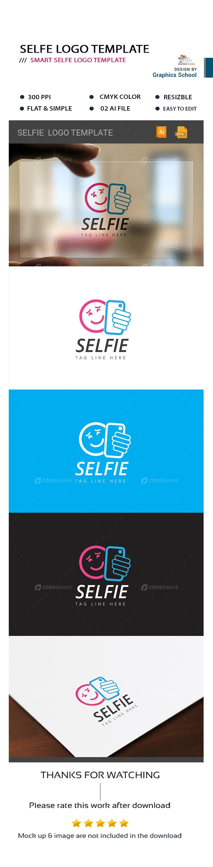 Selfie Logo Template