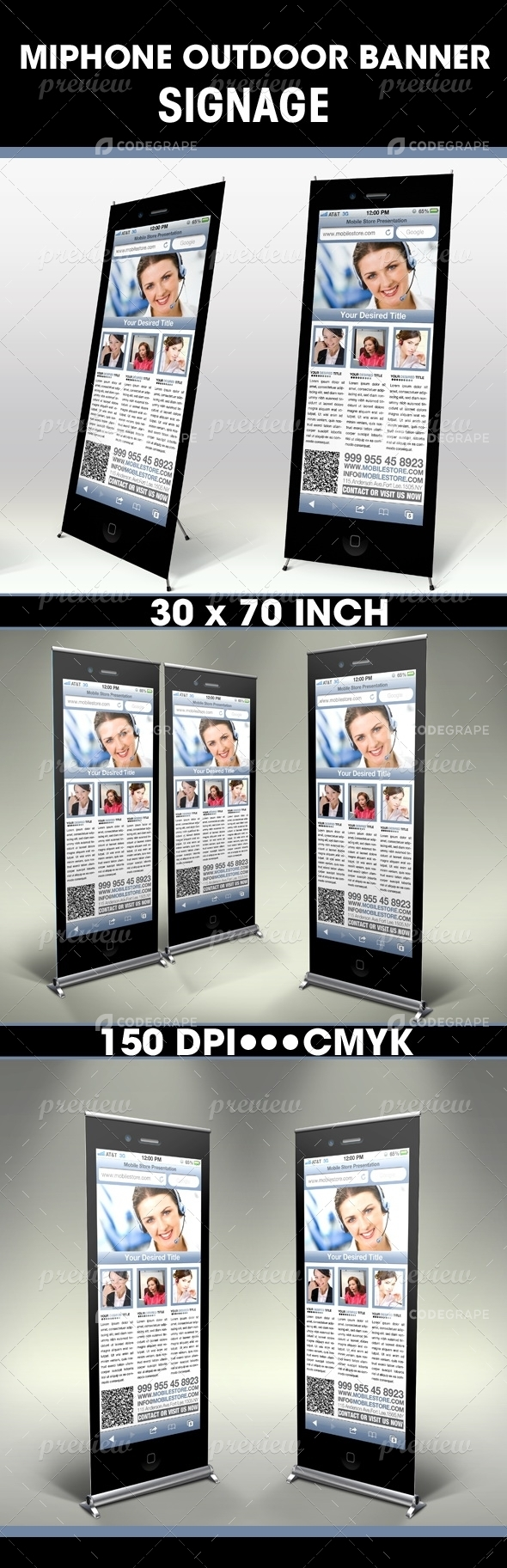 MiPhone Outdoor Banner Signage