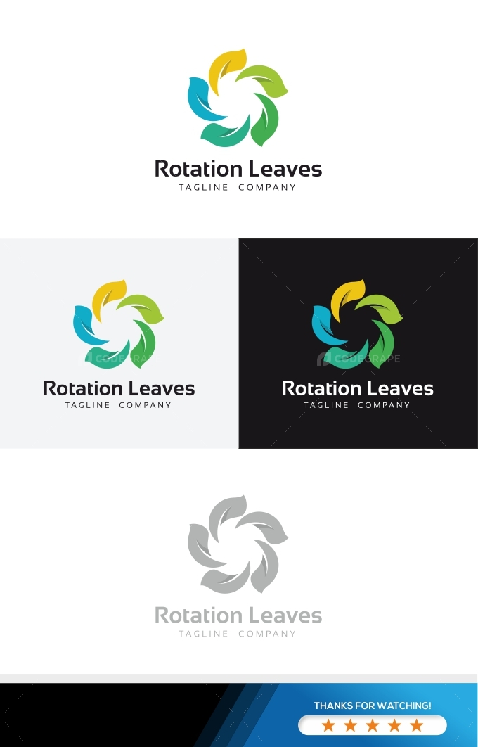 Rotation Leaves Logo