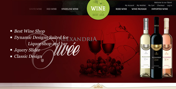 Wine Best Bar Opencart Template