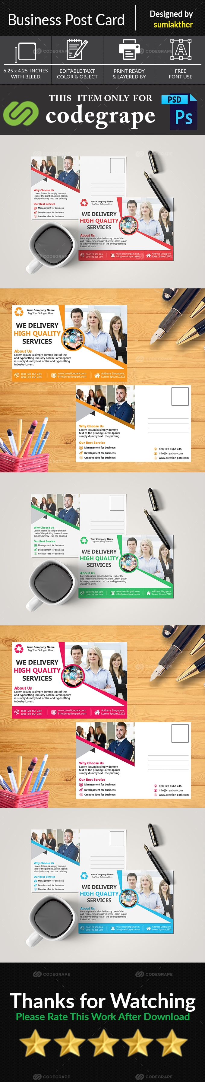 Clean Business Post Card