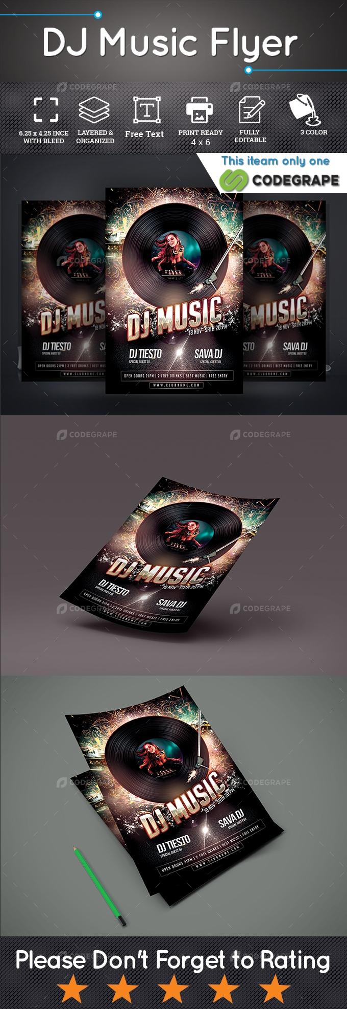 Dj Music Flyer