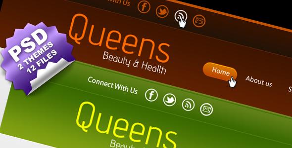 Queen Beauty PSD Template