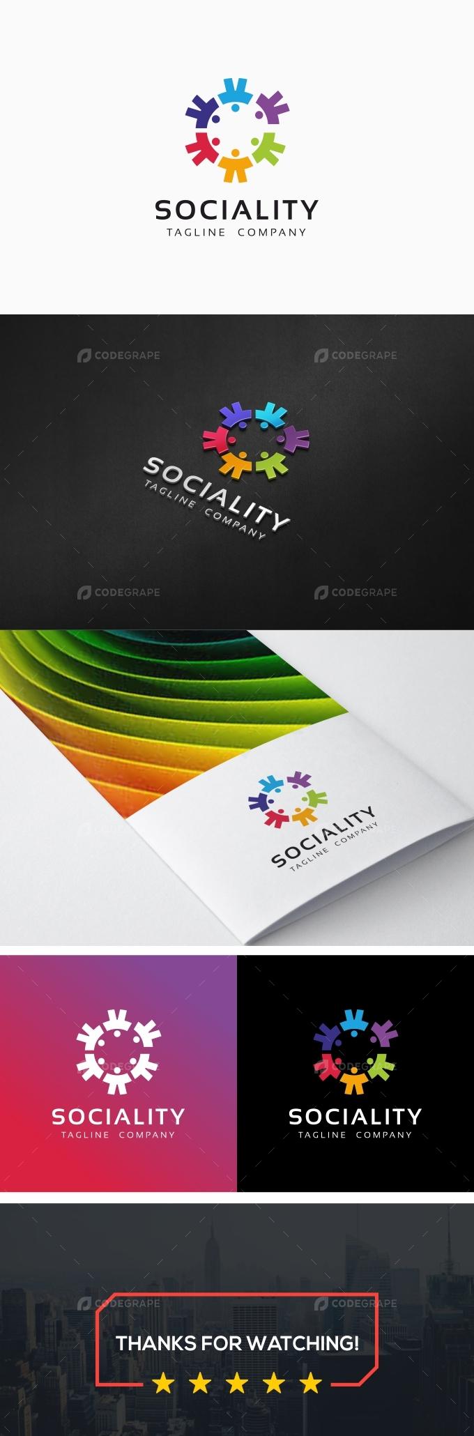Sociality - Human Social Logo