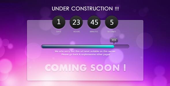 Creative Under Construction PSD Theme