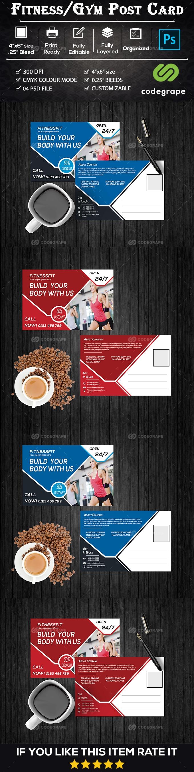 Fitness/Gym Postcard