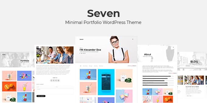 Seven - Minimal Portfolio WordPress Theme