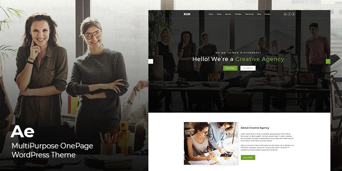Ae - Multipurpose Onepage WordPress Theme
