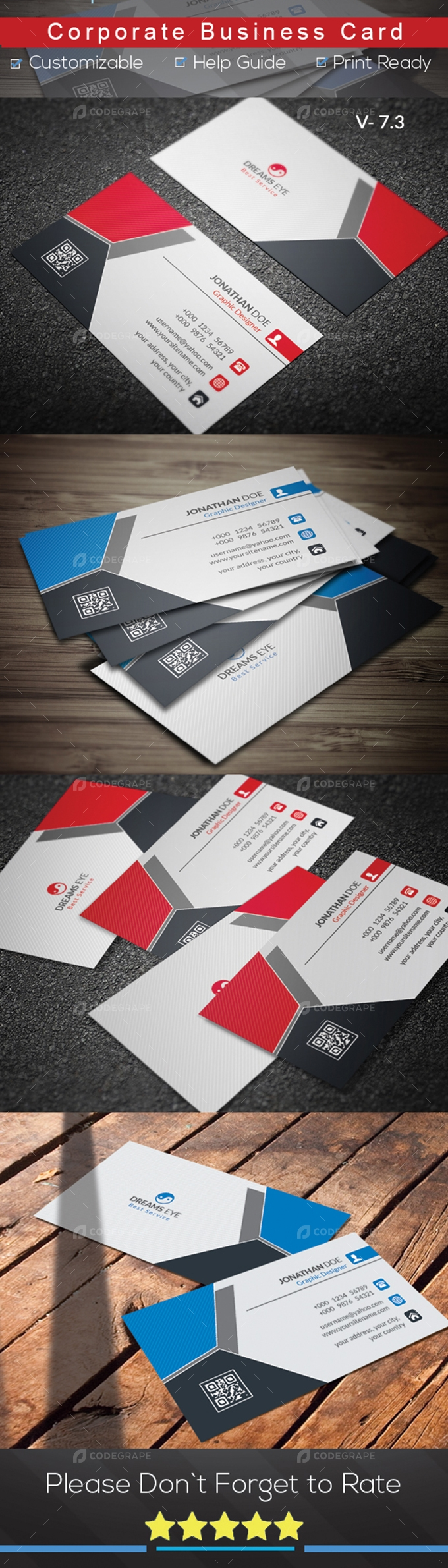 Corporate Color Business Card V.7.3