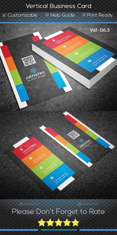 Vertical Business Card V.6.3