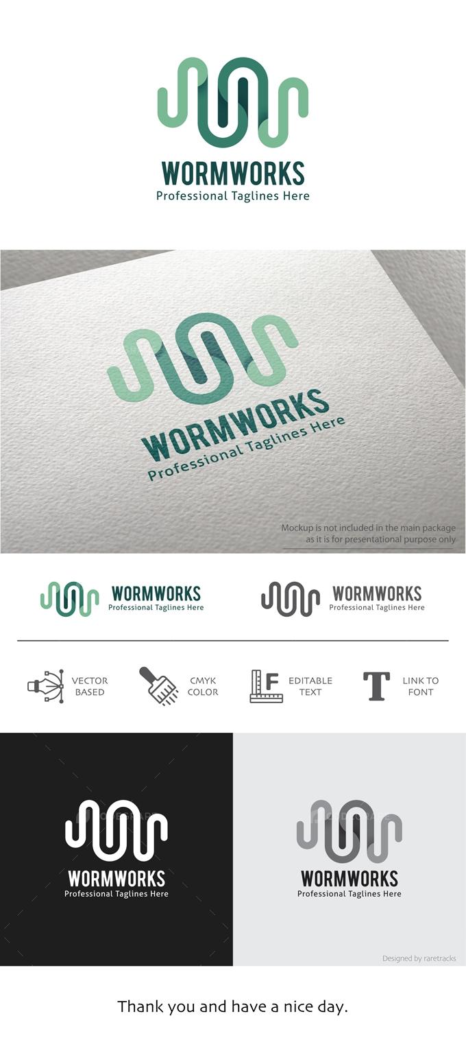 Wormworks Lines Logo