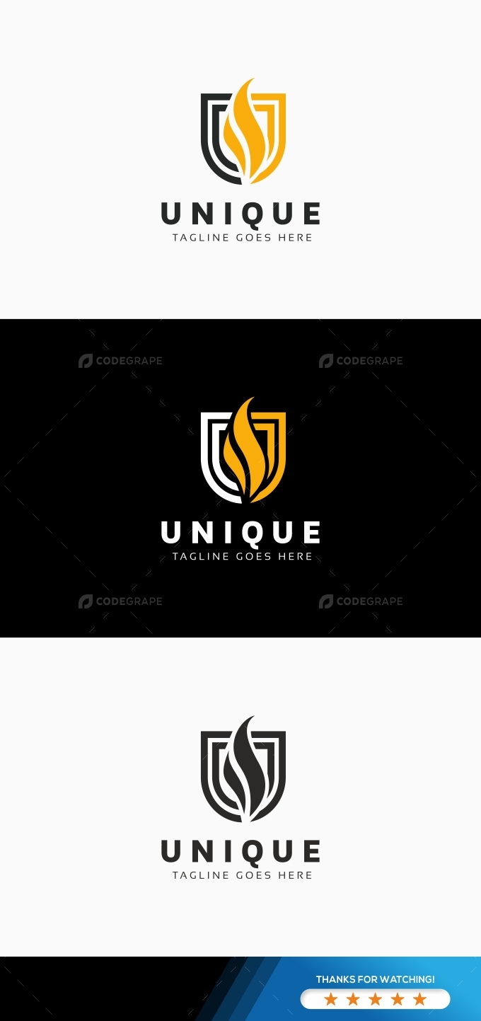 Unique U Letter Logo