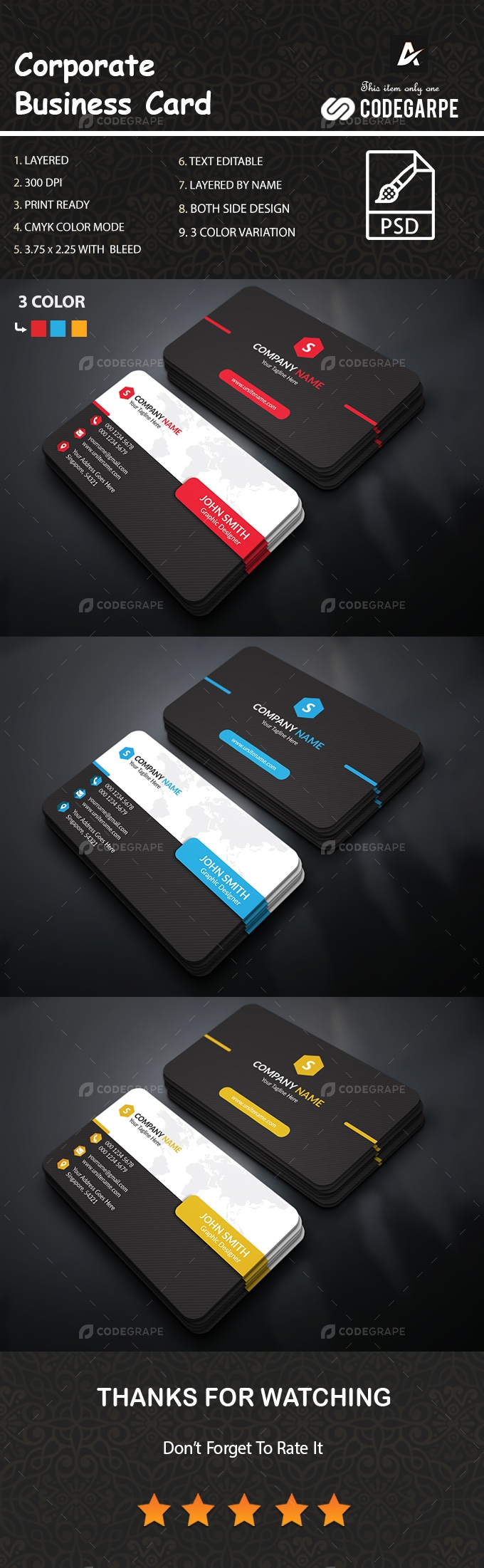 Corporate Business Card [VOL-8]