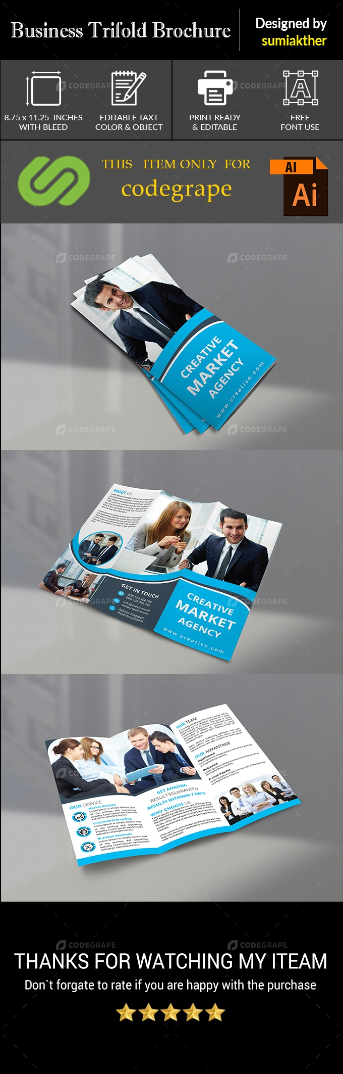 Trifold Business Brochure