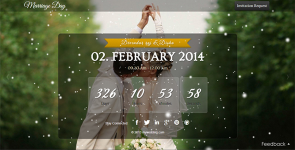 Marriage Countdown Html5