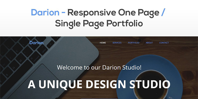 Darion - Responsive One Page Theme