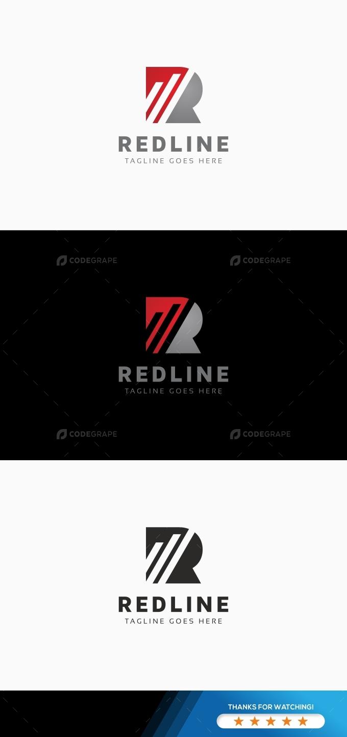 Redline R Letter Logo