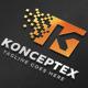 Konceptex K Pixel Letter Logo