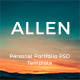 Allen Personal Portfolio PSD Template