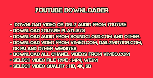 Youtube Downloader with source code