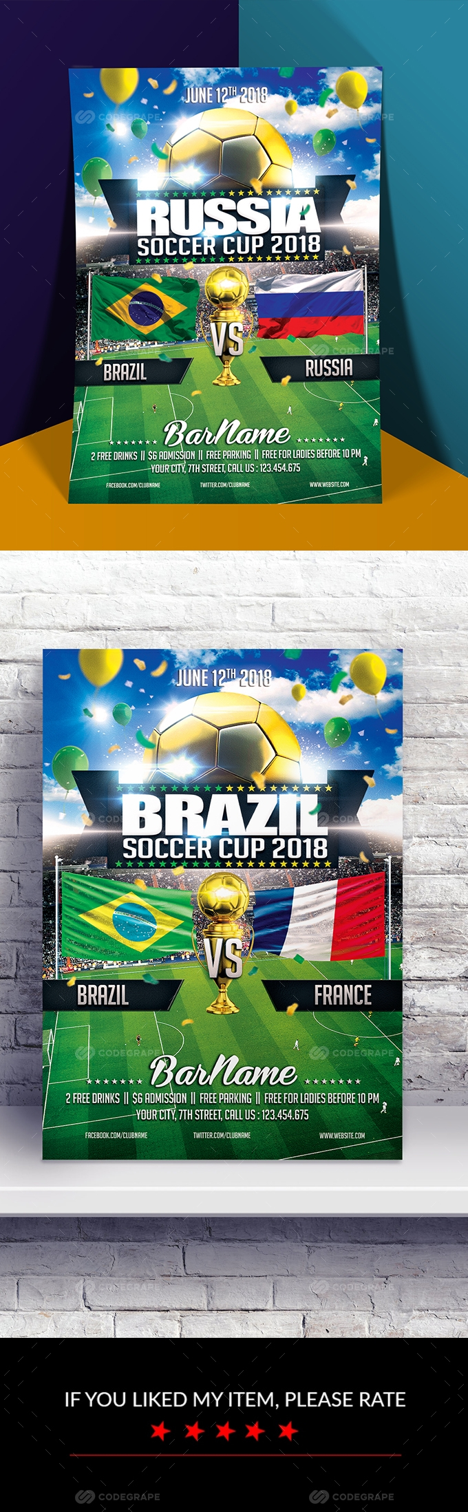 Soccer World Cup 2018 Flyer