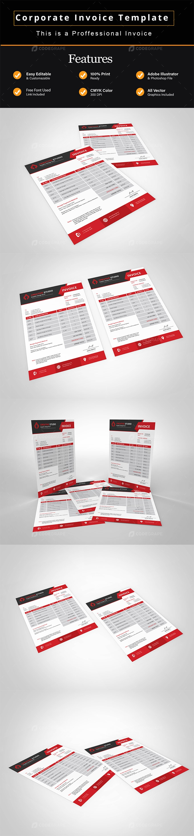 Corporate Invoice Template