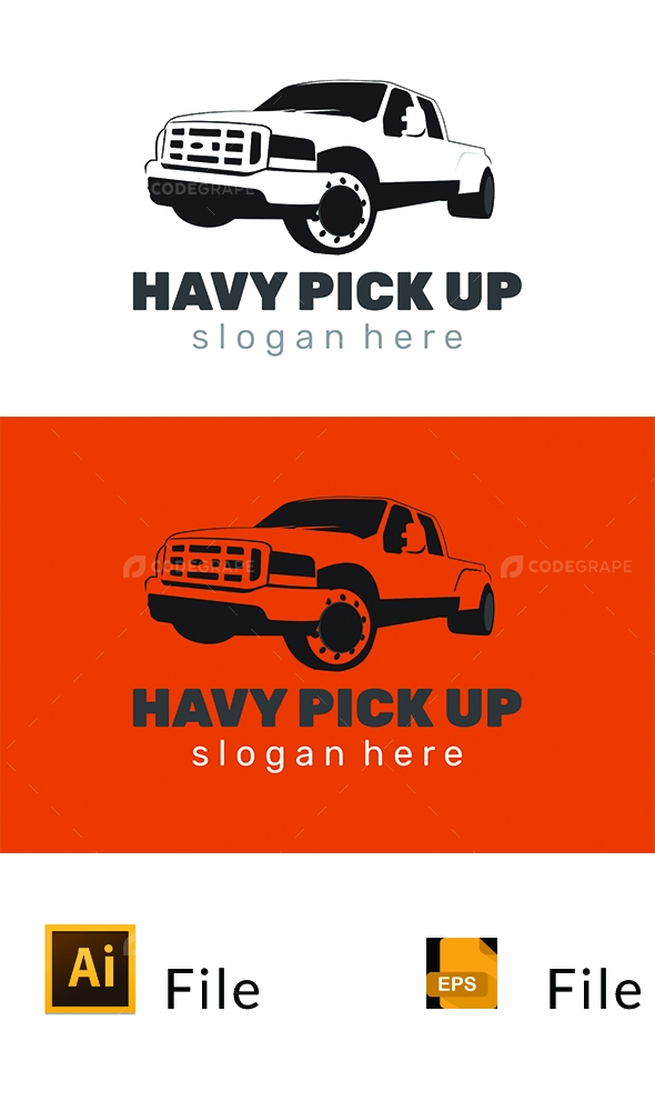Pick up Logo Template