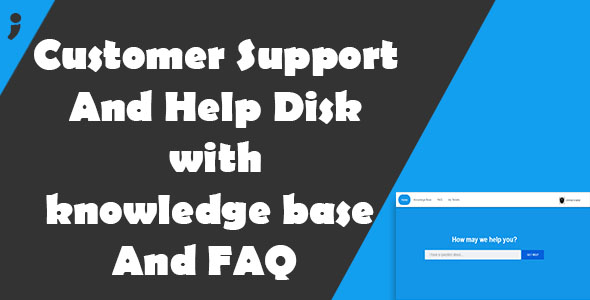 Customer Support And Help Disk with knowledge base and FAQ