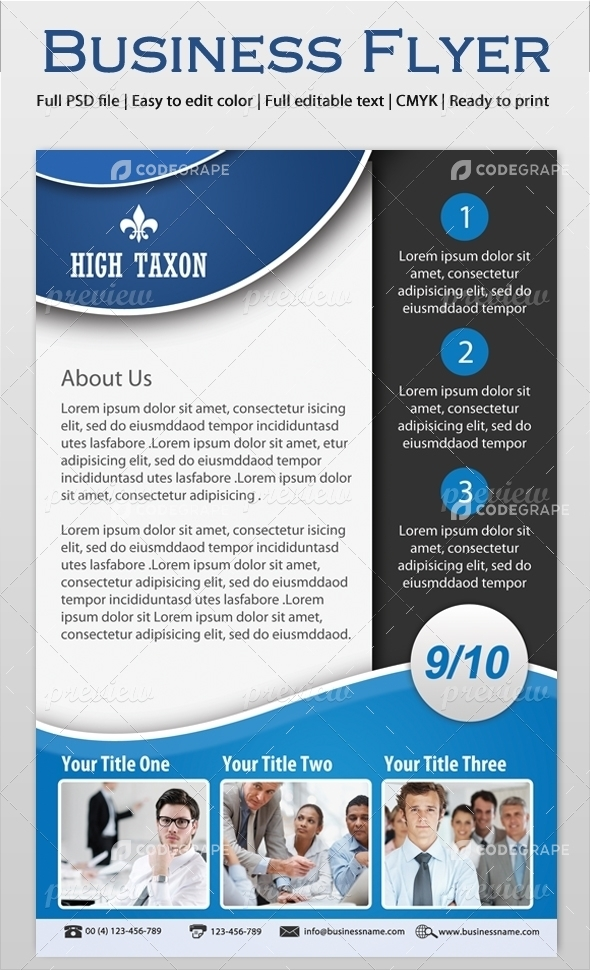 informational flyer template