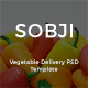 SOBJI - Online Vegetable Delivery Service PSD Template